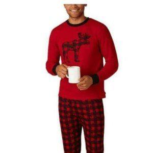 Eddie Bauer Mens 2-Piece Pajama Set, Red